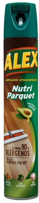 El nuevo ALEX Atrapapolvo Nutri parquet es la mejor solución para una limpieza duradera.