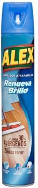 El nuevo ALEX Atrapapolvo Renueva Brillo limpia y atrapa el doble de suciedad y polvo que utilizando sólo una mopa seca
