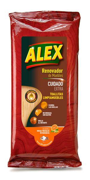 Con las Toallitas ALEX Cuidado Extra limpias cuidadosamente y quitas el polvo. Elimina las huellas, no engrasa, no deja rastro y da brillo al instante. Con aroma a notas frutales de naranja.